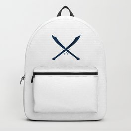 Blue Chinese Swords Backpack
