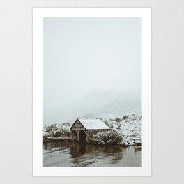 Dove Lake Boat Shed Art Print