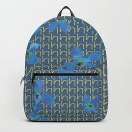 Floral pattern C (blue on blue) Backpack