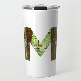 """M"" Initial Forest Travel Mug"