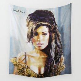 Winehouse Portrait 3 Wall Tapestry