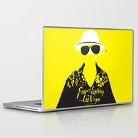 fear and loathing Laptop & iPad Skins featuring Fear and Loathing in Las Vegas by Jordi Hayman Design