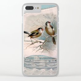 Vintage Birds on a Boat Clear iPhone Case