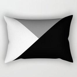 Black and White Angles Rectangular Pillow