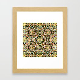 Flower Crown Bohemian Framed Art Print