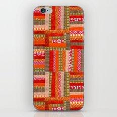orange quilt iPhone Skin