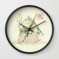 warrior Wall Clocks featuring Warrior by Pigboom Art