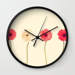 Technicolour Flowers  Wall Clock