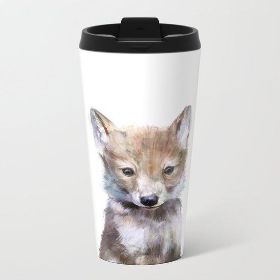 Little Wolf Metal Travel Mug