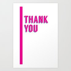 thank you 2 Art Print