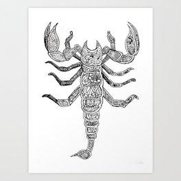 Scorpdala B&W Art Print