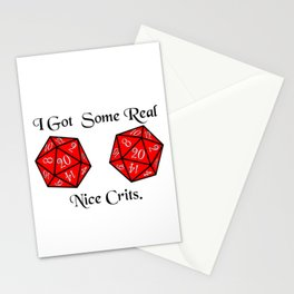 Real nice Crits Stationery Cards