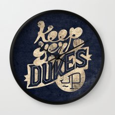 Keep Yer Dukes Up Wall Clock
