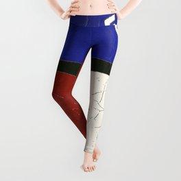 Texas State Flag Longhorn Antique Style Pattern Art Leggings