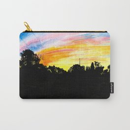 Colorful Sunset Tree Silhouette Watercolor Carry-All Pouch