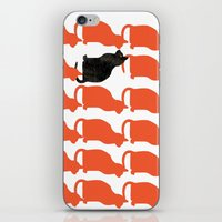rose iPhone & iPod Skins featuring CATTERN SERIES 2 by Catspaws