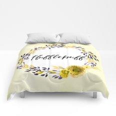HP Hufflepuff in Watercolor Comforters