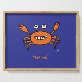 Mr and Mrs Cabby Amanya Design Blue Single FEED ME! Serving Tray
