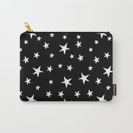 Stars - White on Black Carry-All Pouch