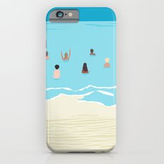 Stoked - memphis throwback retro neon pop art illustration socal cali beach surfing swimming sea iPhone 6s Slim Case