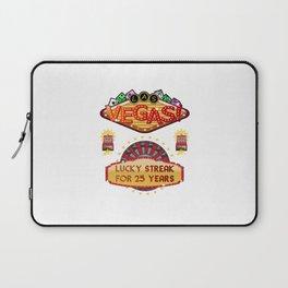 Las Vegas 25th Wedding Anniversary Gift Laptop Sleeve