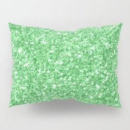 Green glitter texture print Pillow Sham