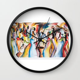 Gathering Of Freinds Wall Clock