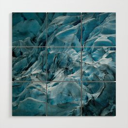 Blue Ice Glacier in Norway - Landscape Photography Wood Wall Art
