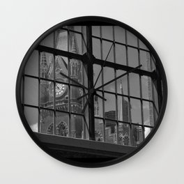 St Pancras Tower view from Kingscross train station Wall Clock