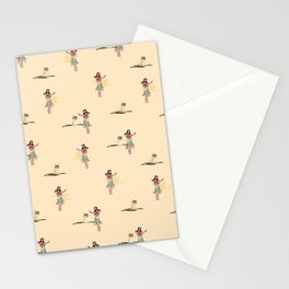 Tropical Vibes - Hula Dancer Sand Stationery Cards