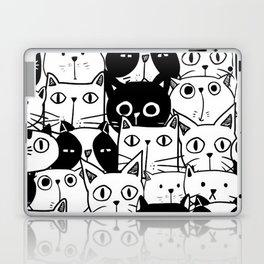 MONOCHROME CAT PATTERN Laptop & iPad Skin