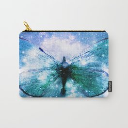 Celestial Butterfly : Turquoise Green Carry-All Pouch