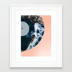 When the Needle Drops Framed Art Print