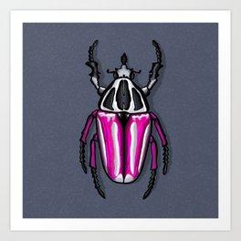 Goliath Beetle Art Print