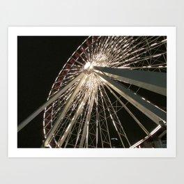 Navy Pier Ferris Wheel Art Print