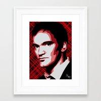 tarantino Framed Art Prints featuring Quentin Tarantino by Måry