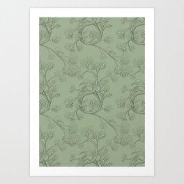 The Night Gardener - Endpapers Art Print