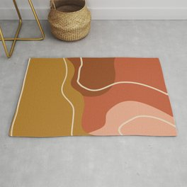Abstract Organic Shapes in Zen Desert Color  Rug