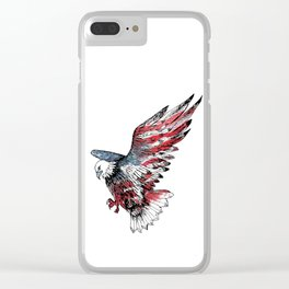 Watercolor bald eagle symbol of the United States Clear iPhone Case