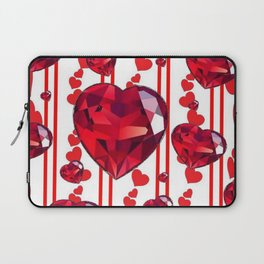 RED VALENTINES & RUBY HEARTS  DESIGN Laptop Sleeve