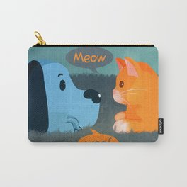Orange Cat and Blue Dog Carry-All Pouch
