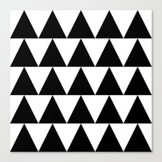 Black and White Triangle By PencilMeIn Canvas Print