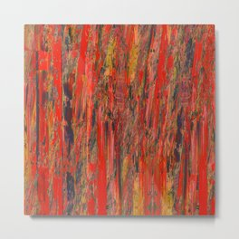 lines of red yellow Metal Print