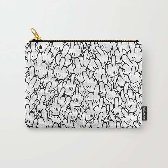 Middle fingers of Mickey Mouse Carry-All Pouch