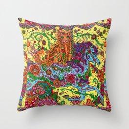 Purrfect Harmony Throw Pillow