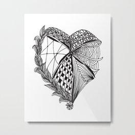 Tangled Heart Metal Print