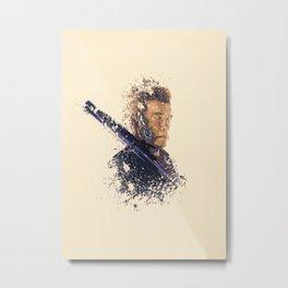 Terminator splatter painting Metal Print