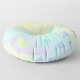 Pastel Gradient Design with Pastel Ombre Triangles! Floor Pillow
