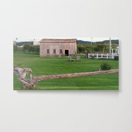 The Old Barn and Yard Metal Print