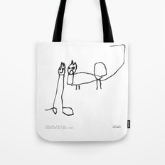 [two cats, one is sad because she has a pig's tail] - nadya 3 yr Tote Bag